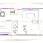 Accommodation drawing, showing the full beam master suite.